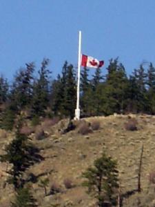 flag half mast-Calamity Hill