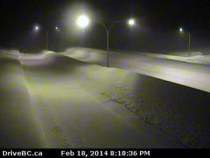 A deserted Coquihalla Hwy, Feb 18, 8:20pm