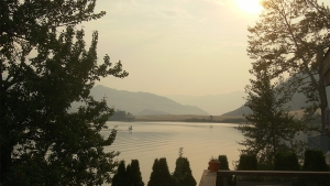 Smoky skies at Nicola Lake