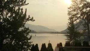 Smoky skies at Nicola Lake