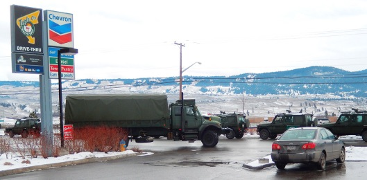 Last Sunday, a Canadian military convoy stopped to gas up on Gasoline Alley