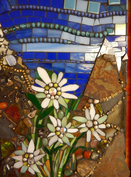 Mosaic by Silvia Rosenfelder-Schechtel in the Community Art Show at the Courthouse Art gallery. Ends this Saturday.