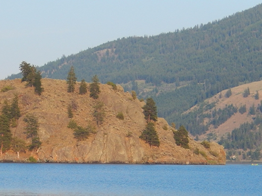 Nicola Lake, last week, after the smoke cleared.