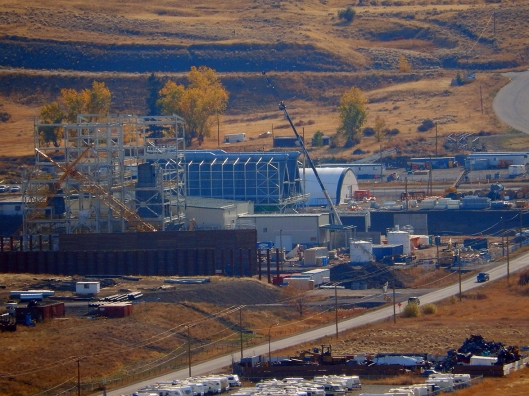 Iberdrola's incinerator, in the south end of Merritt. Photo taken in October, since then they've made substantial progress.
