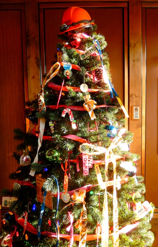 Tolko's creative Christmas tree, from this year's Festival of Trees. Cool!