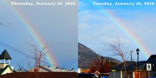 Coming up rainbows!