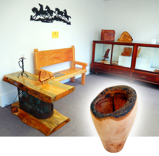 Woodworking art at the Courthouse Art Gallery, until the end of the month.