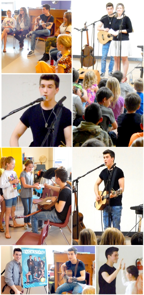 Josh Bogert sang some songs with members of the choir, then performed his new original song for the whole school. Check out his newly-released video here.