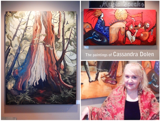 Cassandra Dolen is a prolic artist, and opened a new exhibition of walnut oil paintings on Friday at Brambles.