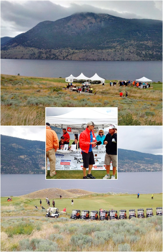 The Sagebrush Golf Club donated the course for the Centennials annual event. Dramatic backdrop with all the 'weather' around.