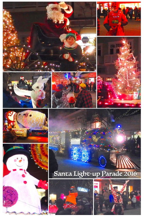 The annual Santa Light-up parade transformed the downtown on Friday evening. And right on time for Country Christmas, snow fell Saturday.
