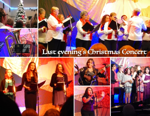 There is something about 500 people in a room singing Christmas songs together that can send shivers down one's back... The Spirit of Christmas was definitely present, and palpable!
